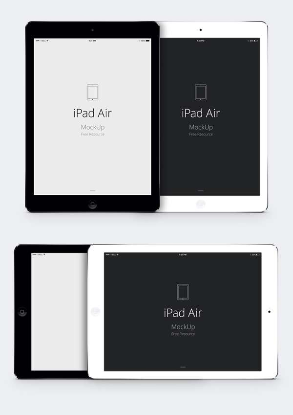 Free ipad Air PSD mockup.