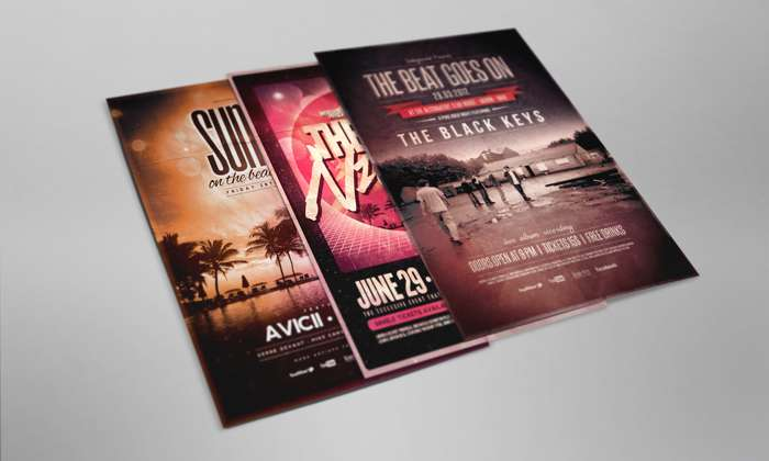 Free flyer/poster PSD mockup.