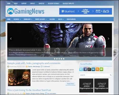 GamingNews Free Blogger Template image
