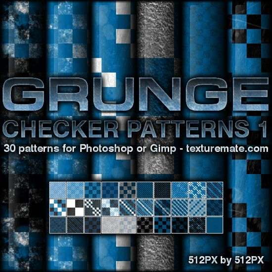 Grunge Checker Patterns