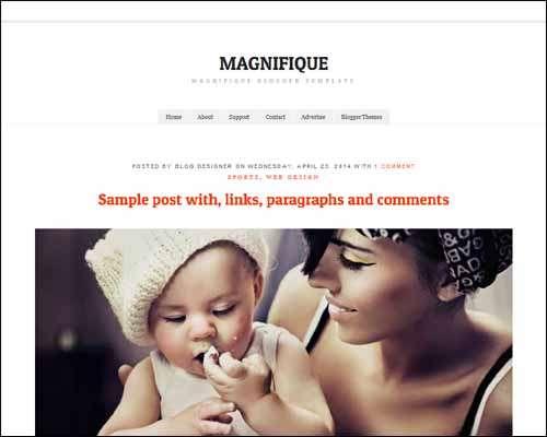 Magnifique Free Blogger Template image