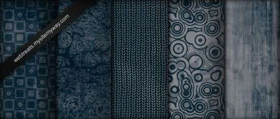 Blue Grunge Patterns