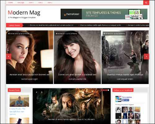 Modern Mag Free Blogger Template image