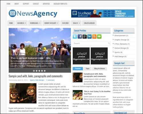 NewsAgency Free Blogger Template image