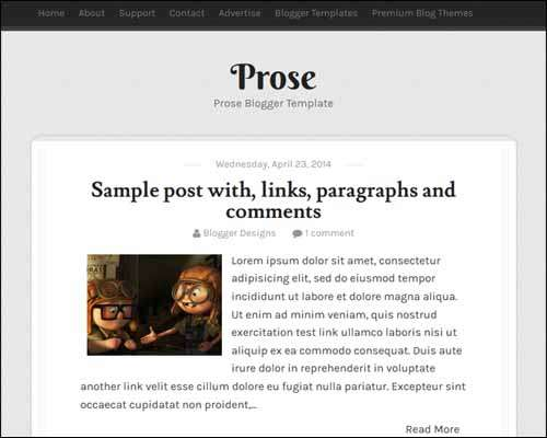 Prose Free Blogger Template image