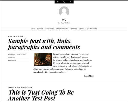 Ryu Free Blogger Template image