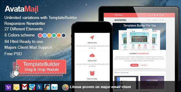 AvataMail ResponsiveE-mail With Templates Builder - Newsletters Email Templates