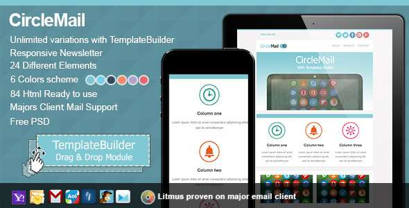 CircleMail Responsive E-mail + Templates Builder - Newsletters Email Templates