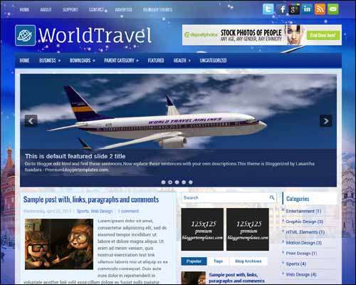 WorldTravel Free Blogger Template image
