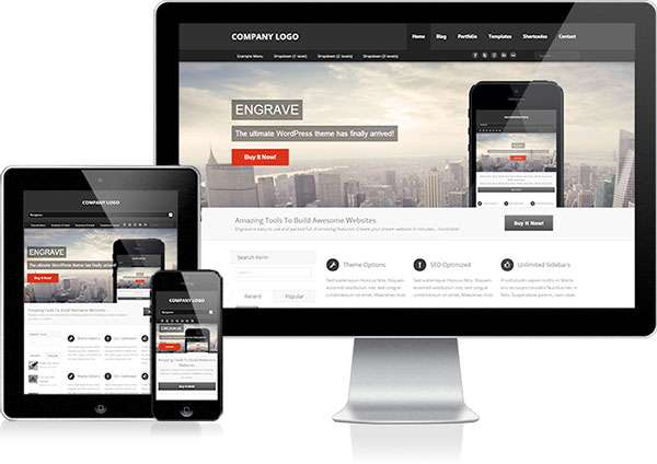 Engrave free new WordPress themes 2014