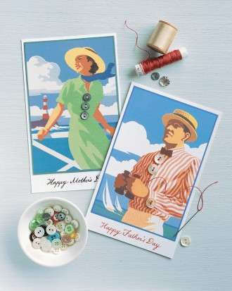 Father's Day Seaside Card Clip Art