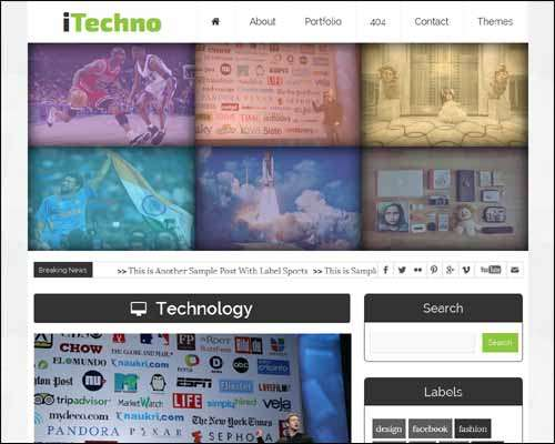 iTechno Free Blogger Template image