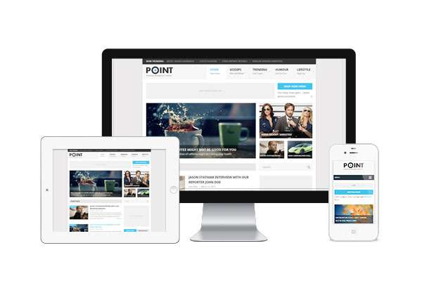 Point New Free WordPress Themes 2014