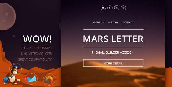 Mars - Responsive Email Template and Builder - Email Templates Marketing