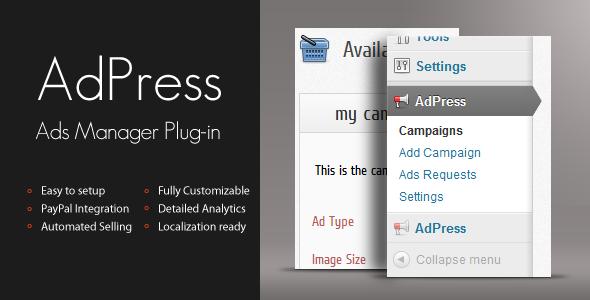 AdPress WordPress Ad Manager image