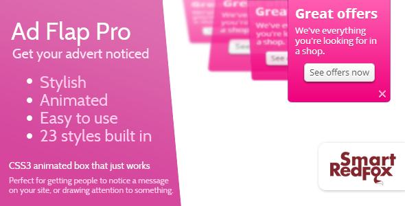 Advert Flap Pro - WordPress