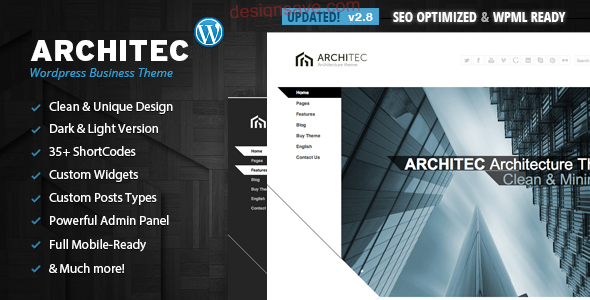 Architec - Architecture WordPress Theme
