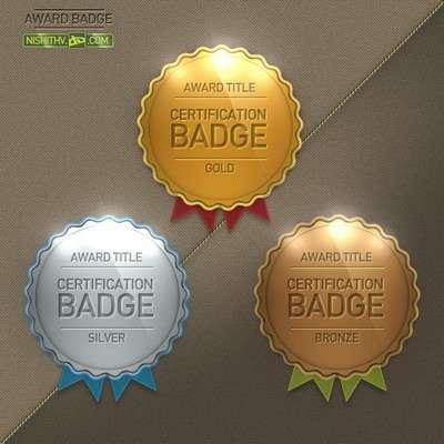 Award Badge PSD File