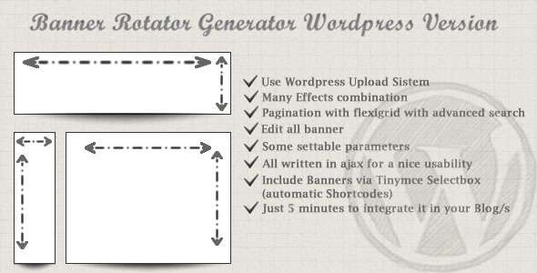 Banners Rotator Generator For Wordpress image