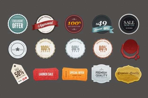 Colorful Promotion Badges Psd