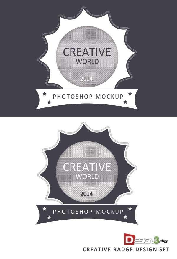 Creative Badge Design Set