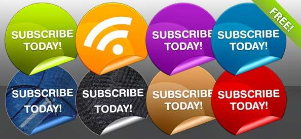 Eight Free Subscribe Badges