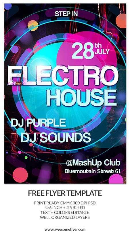Electro-House-Free-PSD-Flyer-Template