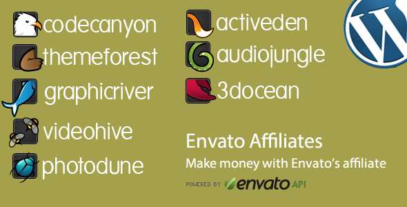 Envato Item Display Affiliate WordPress Plugin