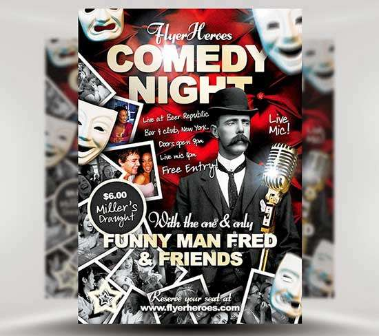 Free-Comedy-Night-Flyer-Template