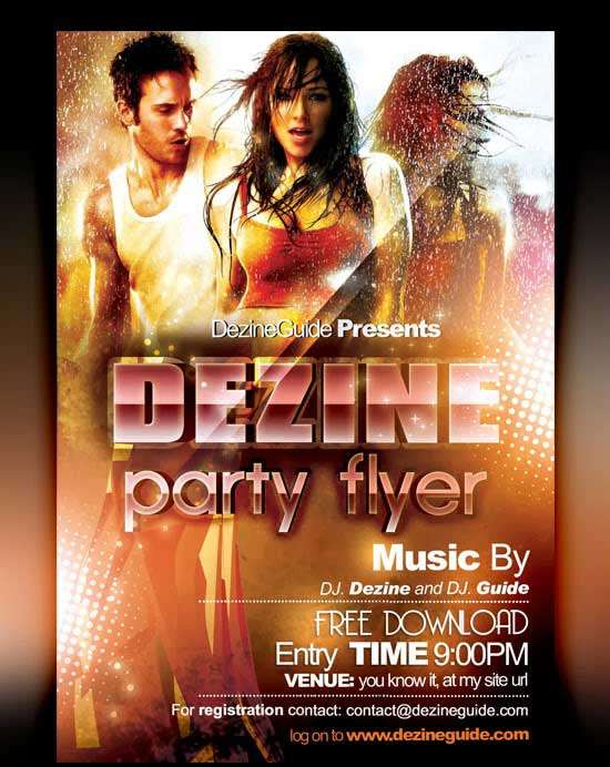 Free-Dezine-Party-Flyerposter-Template
