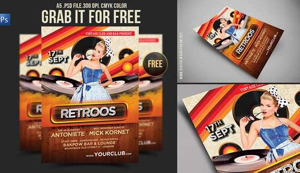 Free-Download-Retro-Party-Flyer-Template