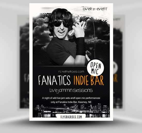 Free-Indie-Bar-Flyer-Template