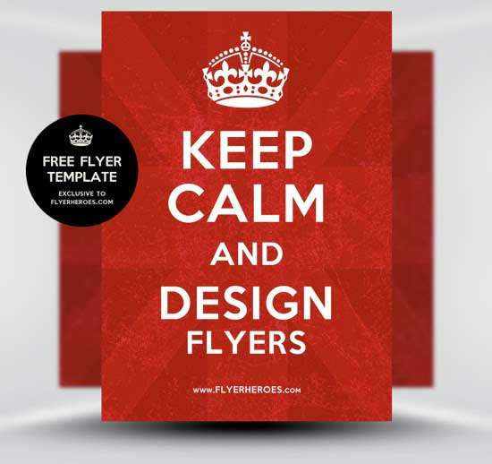 Free-Keep-Calm-and-Carry-On-Poster-Flyer-Template