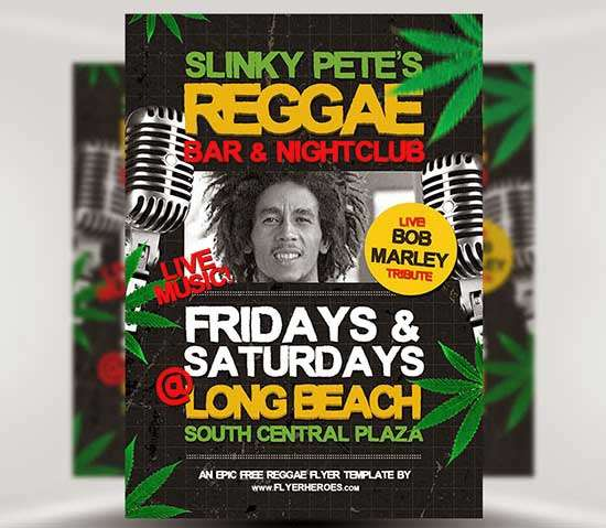 Free-Reggae-Flyer-Template