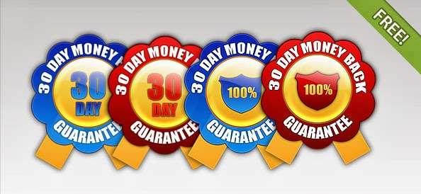 Money Back Guarantee Badges