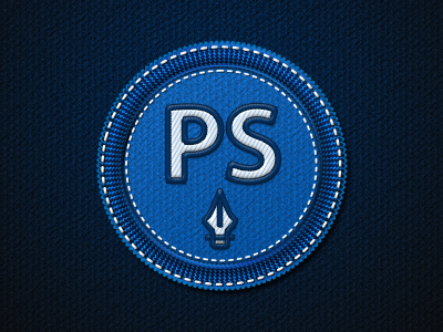 Photoshop Badge PSD File