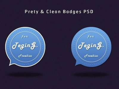 Pretty and Clean Badges