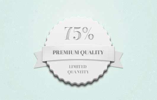 Quality Quantity Badge PSD