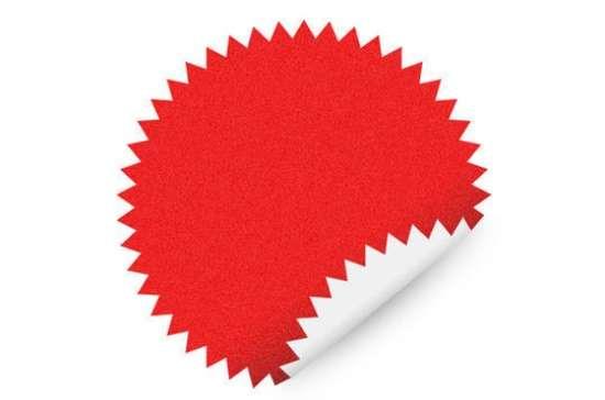 Red Star Shape Sticker PSD