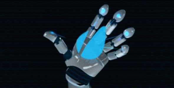 Robot Hand Logo