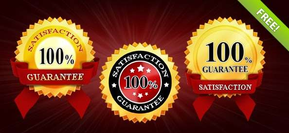 Satisfaction Guarantee PSD Badges