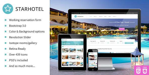 Starhotel - Responsive Hotel Booking Template