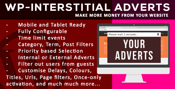 Supreme WordPress Interstitial Adverts