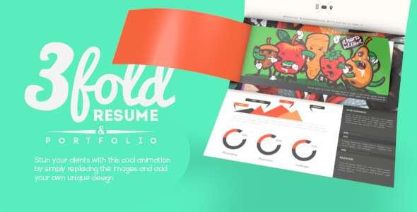 Tri-fold Resume With Portfolio