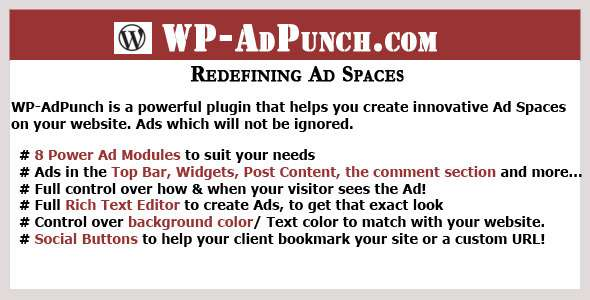 WP AdPunch The Ultimate Ads Plugin image