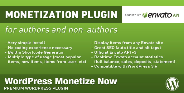 WordPress Monetize Now image