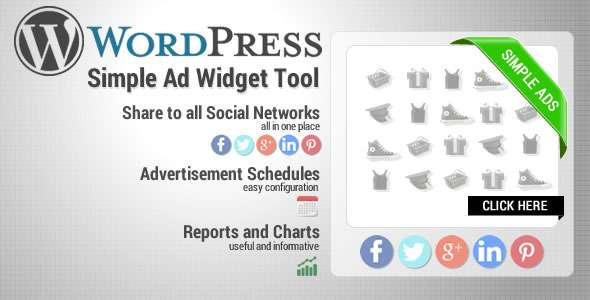 Wordpress Simple Ads Widget Tool