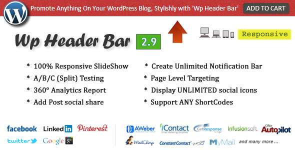 Wp Header Bar WordPress Notification Bar image