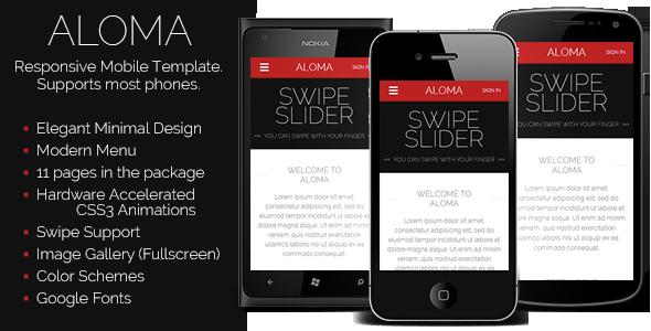 aloma-liquid-mobile-template