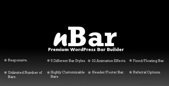 nBar - Advanced WordPress Multipurpose Bar Builder